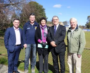 Visiting the site NSW Ministers John Barilaro (Member for Monaro) and John Ajaka (Minister for Ageing) announced another $10,000 towards the Abbeyfield project and met with several of thecommittee members.